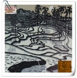 <<元阳梯田>> The Charm o f Yuanyang Terrace Field < Woodblock Painting>
